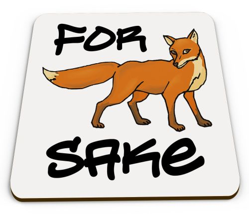 For Fox Sake Glossy Mug Coaster